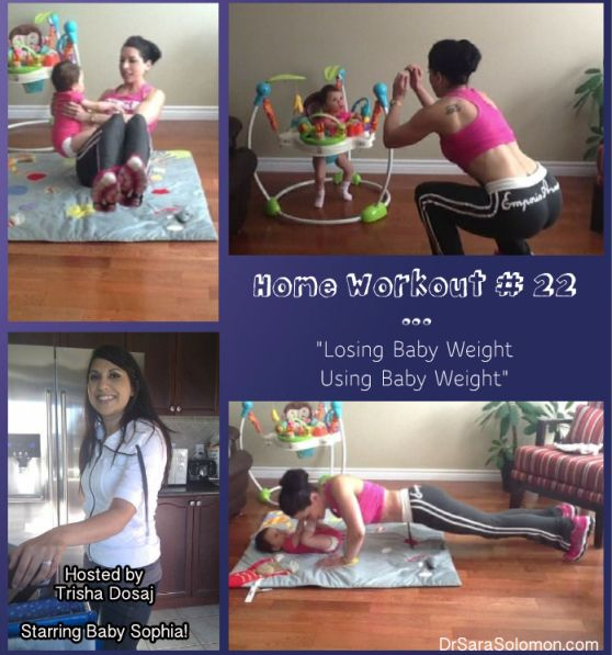 home workout 22 - losing baby weight using baby weight