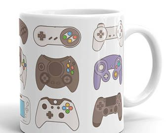 Video Game Controller Mug, Xbox One Mug, Father's Day Gift, Nintendo, Man Cave, Gift For Him, Gamer Mug, Gamer Gifts, Nerd Mug, Geek Gifts