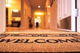 Greets your guests as they enter your home.