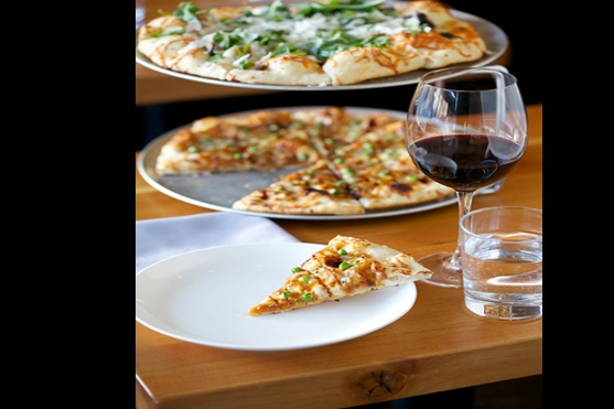 Una Pizza & Wine - Calgary. Seriously the closest thing to real italian pizza I have found since returning in Spring of 2012, when my quest began in Western Canada.