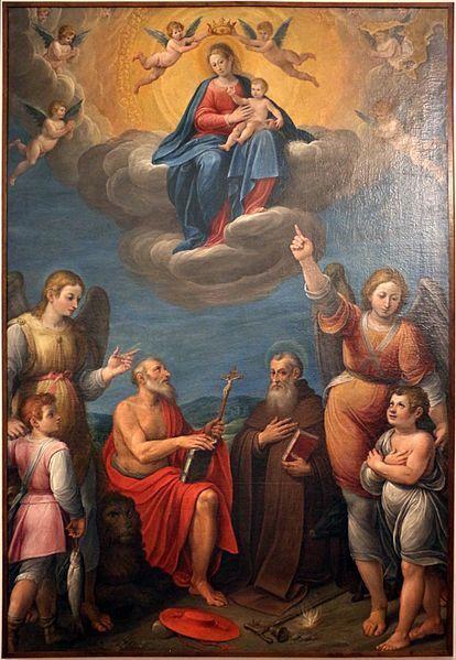 Avanzino Nucci - Madonna in gloria tra santi - 1580-1610 ca. - Museo civico di Gualdo Tadino (Umbria)