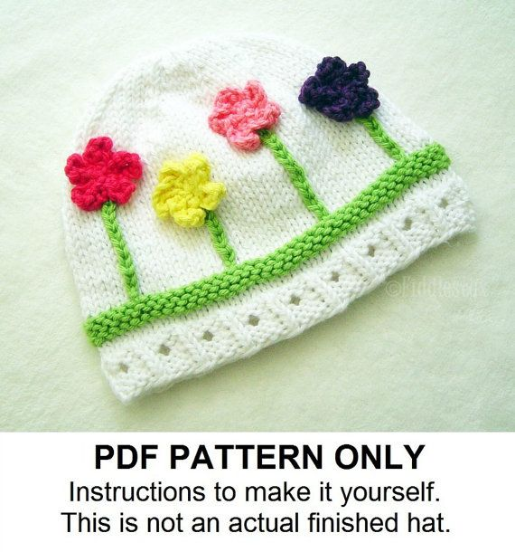 Knitting Pattern – Hat Pattern – the POSY beanie (Newborn, Baby, Toddler, Child & Adult sizes incl'd)
