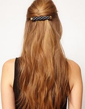 Susan Caplan Exclusive For ASOS Vintage 90s Polka Dot Hair Barette #Jewellery-&-Watches #Black-and-white