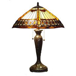 @Overstock - Turn-of-the-century American Lighting craftsman design can be found in this Tiffany Style Amberjack Table Lamp.http://www.overstock.com/Home-Garden/Tiffany-style-Amberjack-Table-Lamp/1959603/product.html?CID=214117 $99.99