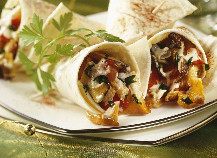 Quesadillas aux épinards, champignons #DanOn #recette