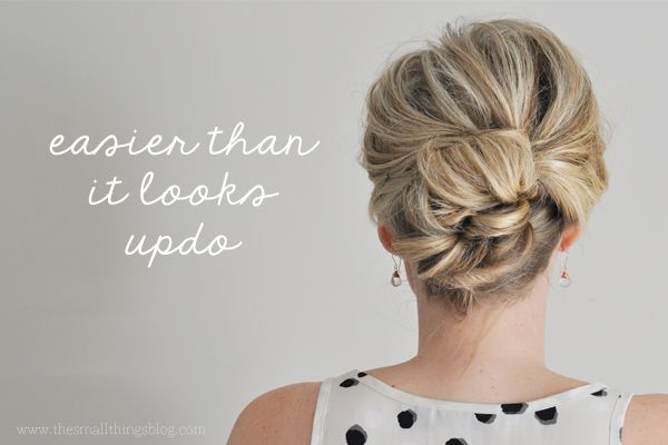 Potential DIY hairstyle for best friend's wedding! The Small Things Blog: easier