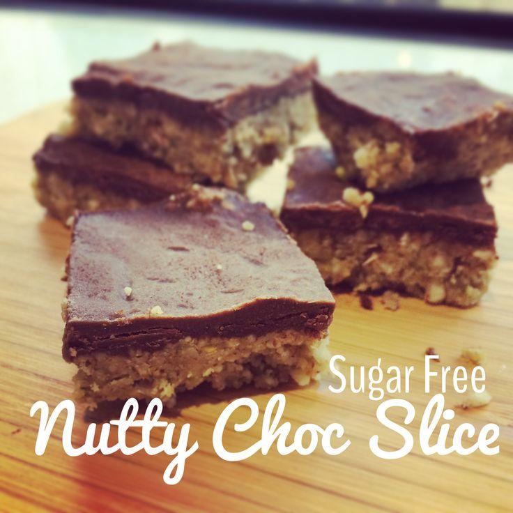 Sugar Free Nutty Chocolate Slice