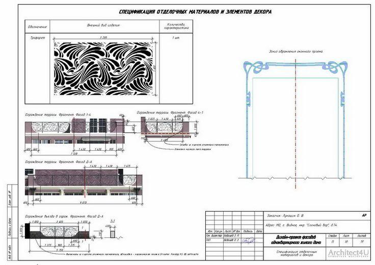 Спецификация отделочных материалов и элементов декора