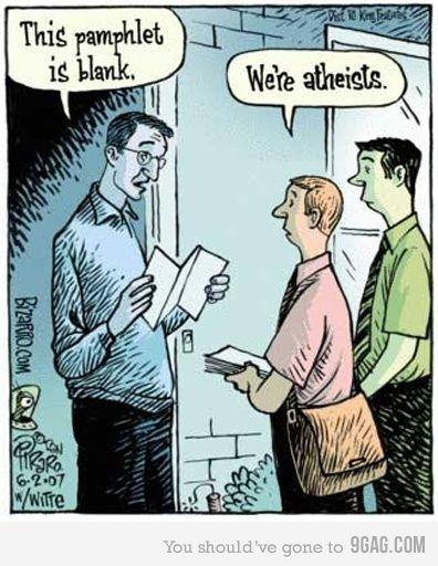 atheistsDoors, God, Laugh, Comics Book, Atheism, Faith, Religious Humor, Funny Stuff, Atheist