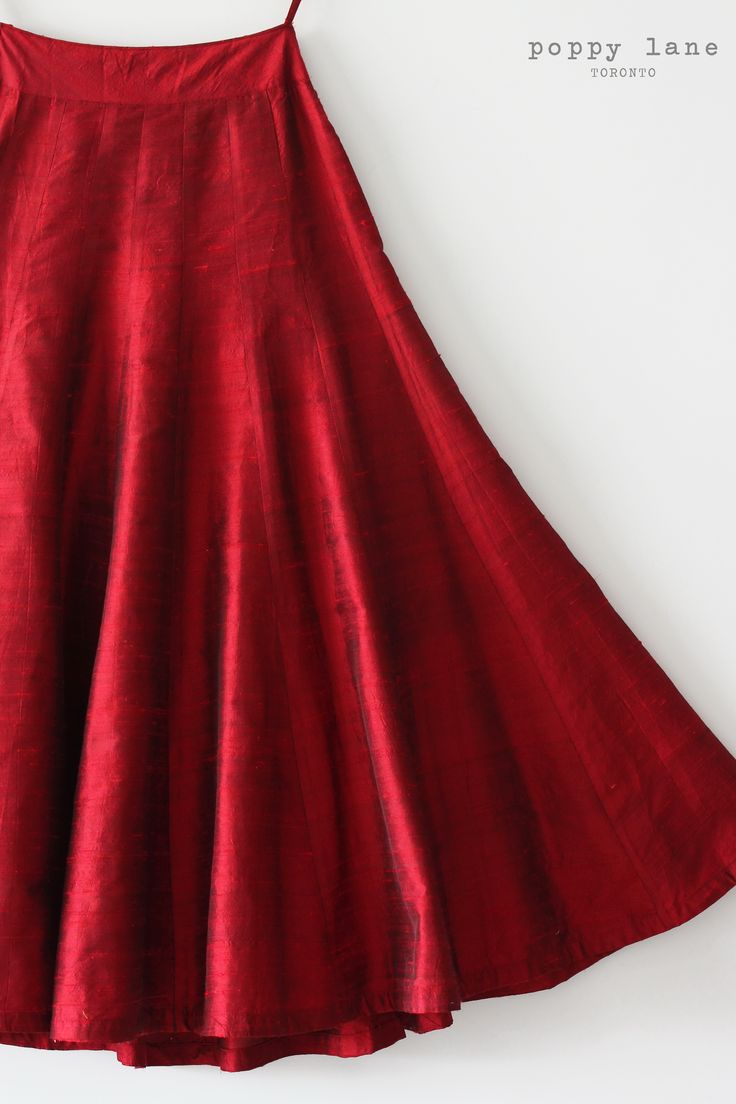 Lady in Red. Find this Raw Silk Deep Red Lengha Skirt at poppylane.ca