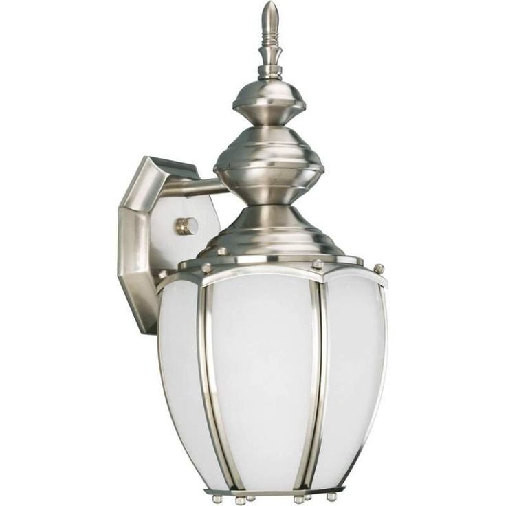 progress lighting roman coach collection brushed nickel outdoor wall mount the home depot