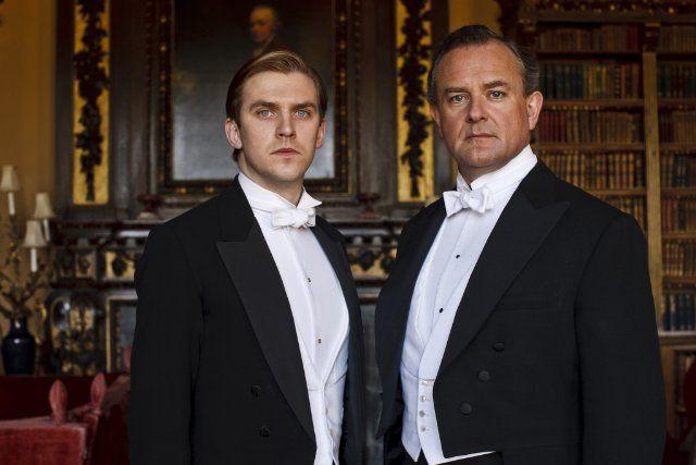 Matthew Crawley (Dan Stevens) & Robert Crawley, Earl of Grantham (Hugh Bonneville) on Downton Abbey