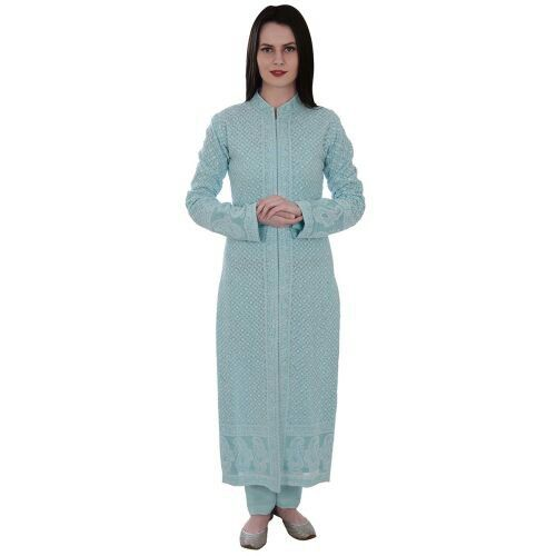 Blue chikan work suit