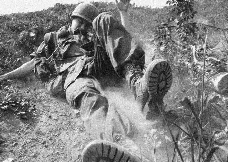 dog ate my tank - 1969US soldier of the 101st Airborne Division during the Battle of Hamburger Hill, Dong Ap Bia, Vietnam