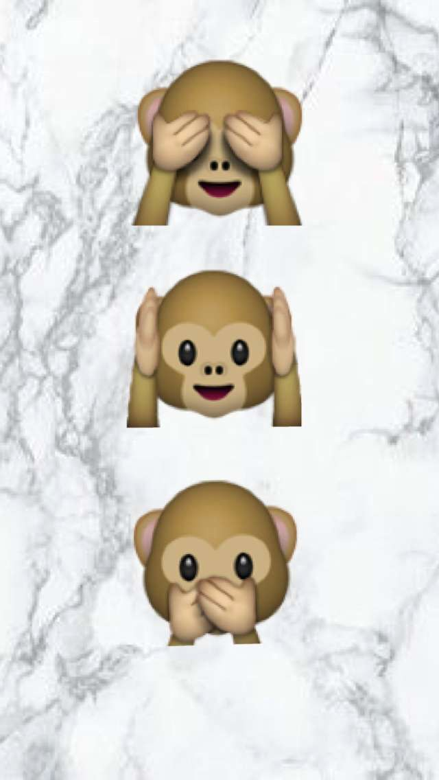 Fond d'écran émojis singe ... Sur une plaque de marbre (noir et blanche ) fond d'écran conçu principalement pour les iPhone,iPad,iPod et Mac Book...