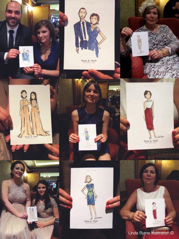 Live Wedding Event Linda Byrne Illustration, Wedding artist, Wedding illustrator