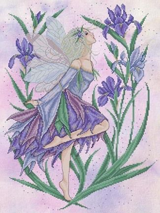 Iris Fairy - Cross Stitch Pattern by Joan Elliott
