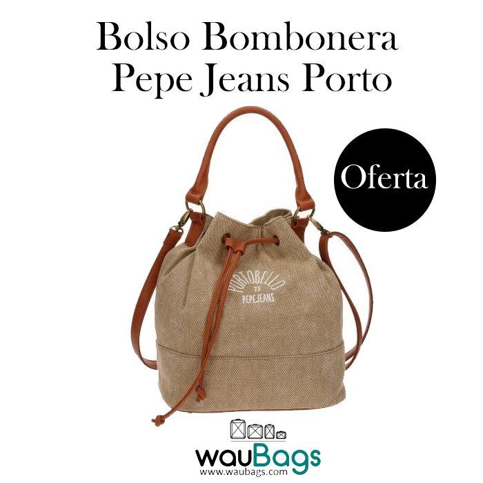 Bolso Bombonera Pepe Jeans Porto, con compartimento principal con 3 compartimentos interiores, uno de ellos con cremallera, para guardar los accesorios y efectos personales y un bolsillo trasero.Dispone de correa regulable y desmontable para llevar el bolso colgado al hombro o en bandolera y asa en la parte superior. @waubags #pepejeans #pepe #bolso #bandolera #bombonera #oferta #descuento #rebajas #waubags