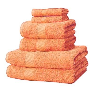 Linens Limited 100% Turkish Cotton 6 Piece Hotel Towel Set, Terracotta