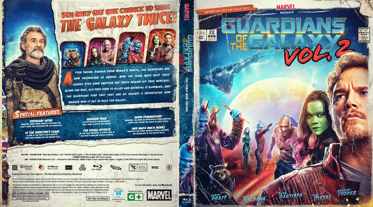 Guardians of the galaxy vol.2 Blu-ray Custom Cover