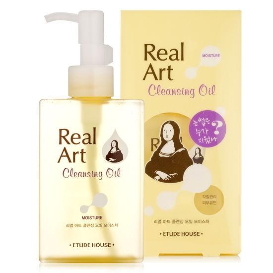 ETUDE HOUSE Real Art Cleansing Oil Moisture Remove makeup e protetor solar 200ml R$45.80