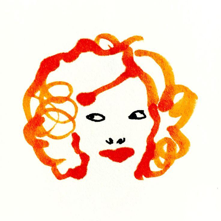 Red by Marie Åhfeldt, Mås Illustra. www.masillustra.se #red #fashion #woman #makup #masillustra