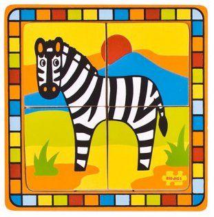 Dřevěné vkládací puzzle - Bigjigs Toys - Zebra