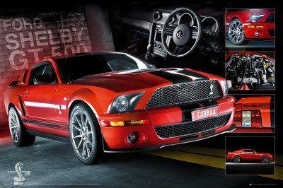 1art1 49563 Autos Easton Roter Mustang Poster 91 X 61 Cm Bilder