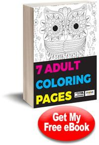 7 Adult Coloring Pages free eBook See best ideas about Adult coloring, Craf...