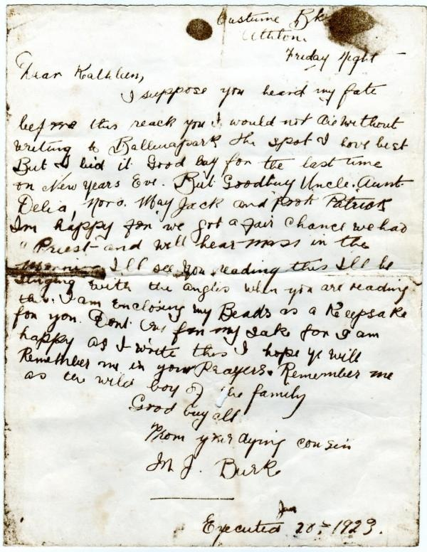 Irish Civil War. Last letter.