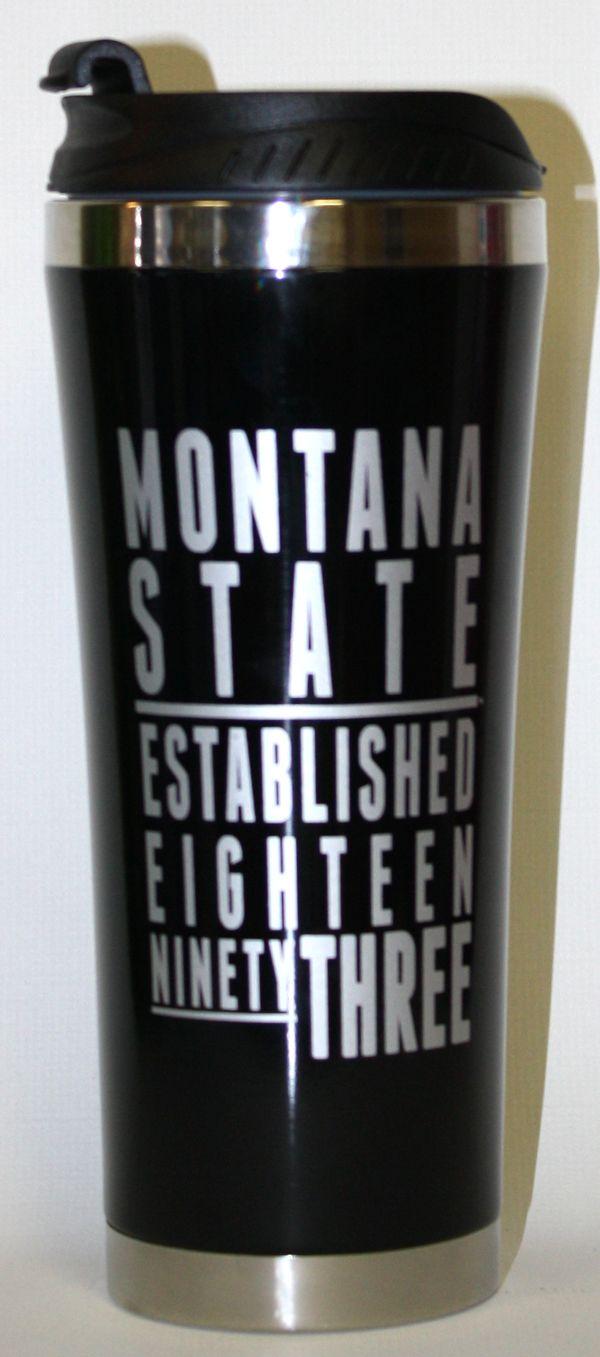 16oz Tumbler, Black, Montana State | MSU Bookstore