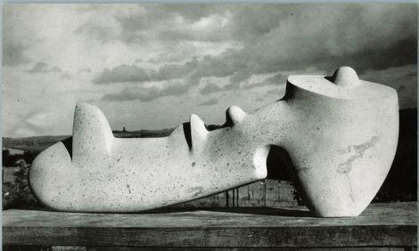 Henry Moore, Reclining Figure LH 178, Hopton wood stone, Fogg Art Museum, Harvard University Art Museum, gift of Lois Orswell. on ArtStack #henry-moore #art #aicampusonline