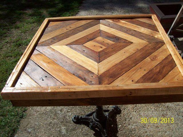 DIY Pallet Table Tutorial                                                                                                                                                                                 More