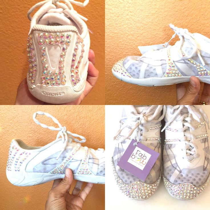 Bedazzled Cheer Shoes (2) by Fabbow01FabulousBows on Etsy