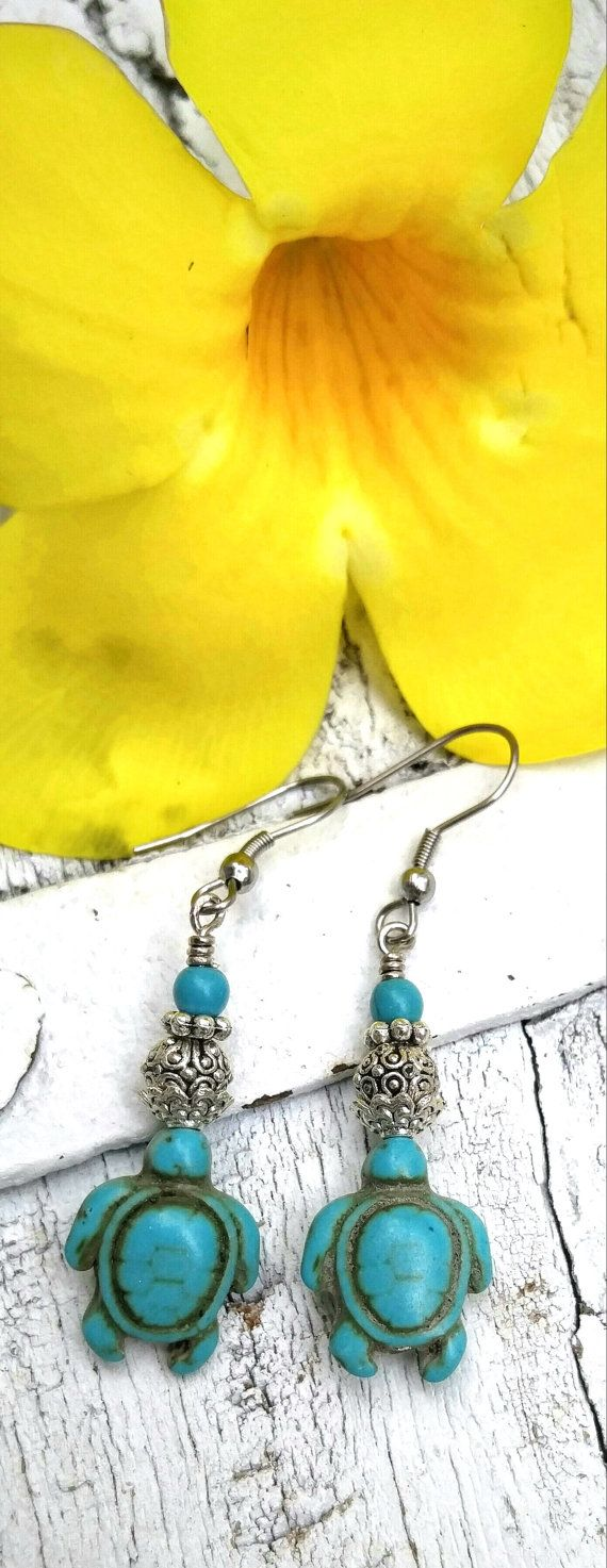 Handmade Sea Turtle Earrings SEA TURTLE by SecretStashBoutique