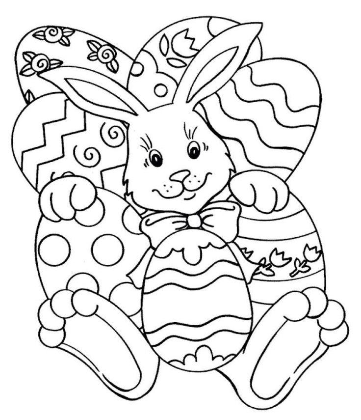 72 besten Easter Coloring Pages Bilder auf Pinterest | Osterhase ...