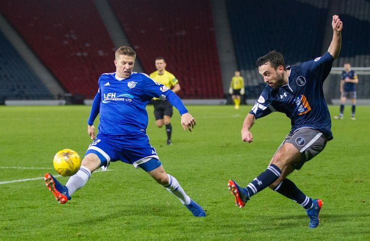 Queen's Park's Anton Brady in action during the Ladbrokes League One game between Queen's Park and Peterhead