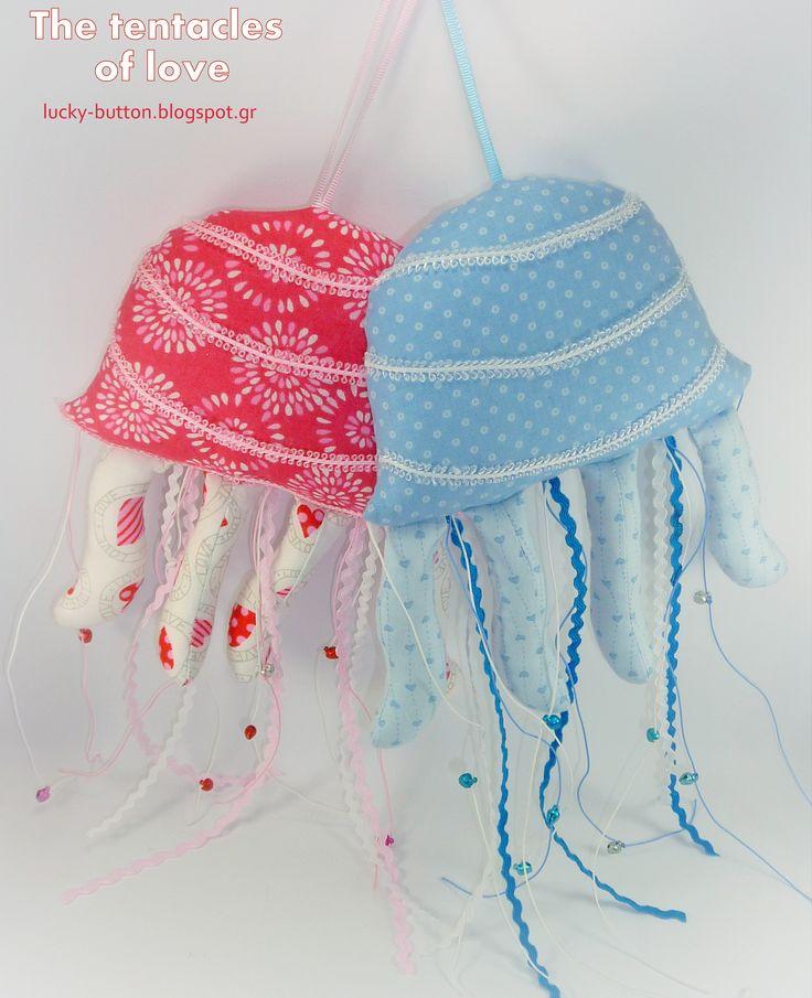 sea creatures fabric jellyfish