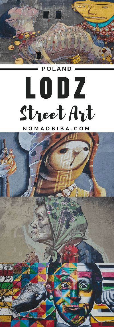 Poland: Street Art in Lodz Tips and map for finding the best street art murals in Lodz, Poland | Street Art in Europe | Poland Urban Art | Best Cities for Street Art | Polski Street Art | Graffiti Art in Lodz
