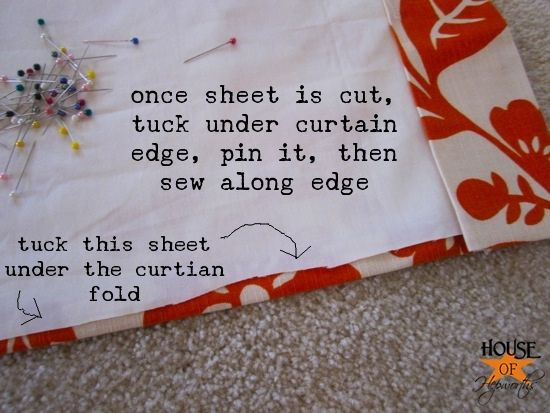 excellent tutorial for making lined curtains - this will come in handy next week when I make R some curtains to darken his room.