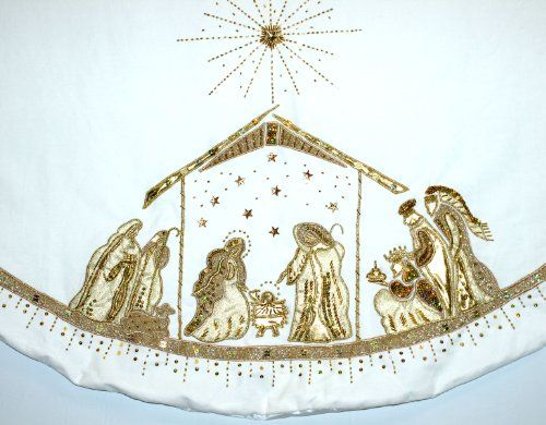 95 best Nativity TREE SKIRTS images on Pinterest | Christmas tree ...