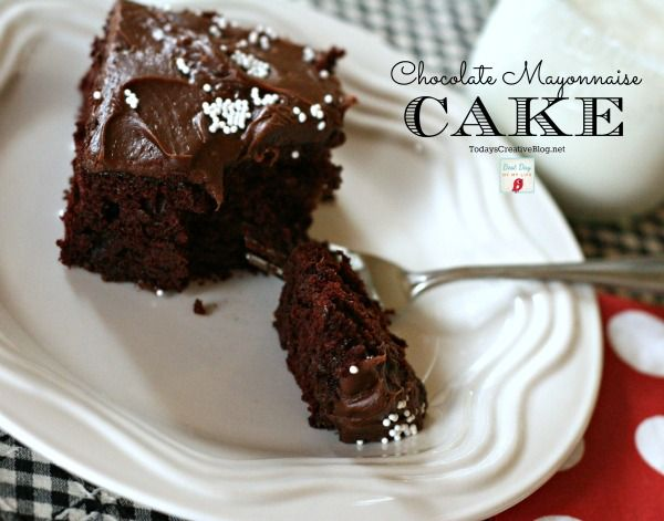 chocolate mayonnaise cake | TodaysCreativeBlog.net
