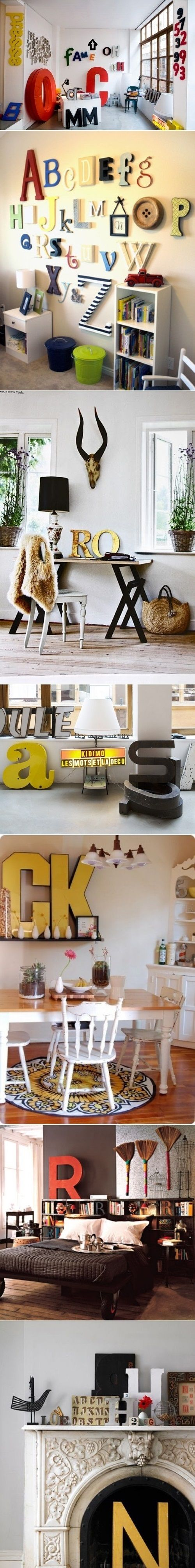 DIY Ideas To Decorate Your Interior With Letters