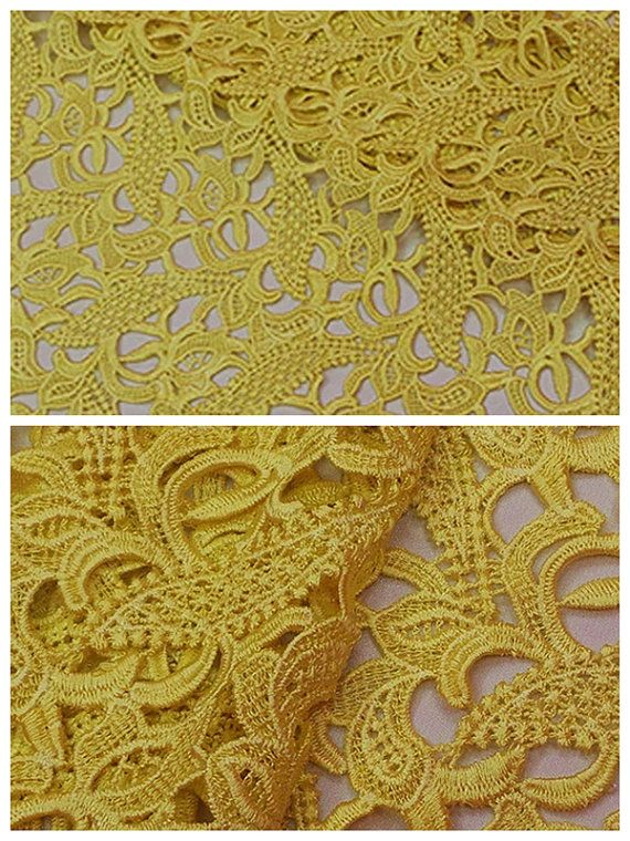 Lace Fabric Hollow out lace fabric Polyester by HQFabricFamily