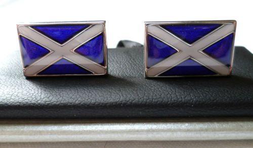 Bouton DE Manchette ' Drapeau Écossais ' Avec Coffret Neuf | eBay