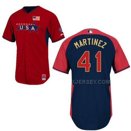 http://www.xjersey.com/usa-41-martinez-red-2014-future-stars-bp-jerseys.html USA 41 MARTINEZ RED 2014 FUTURE STARS BP JERSEYS Only $36.00 , Free Shipping!