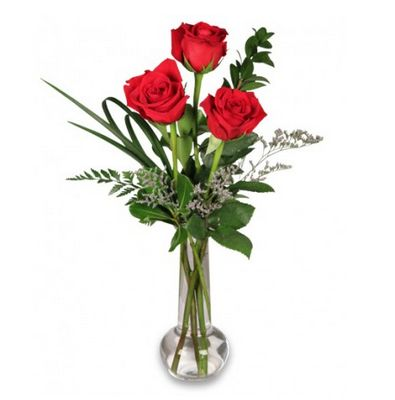 I.LOVE.YOU. http://www.uniqueflowerfashions.com/product/ro00803/red-rose-bud-vase #SayItWithFlowers #NashvilleFlorist #Roses #Delivery
