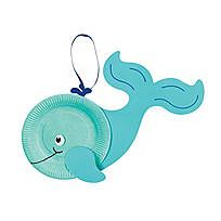 Paper Plate Whale Craft Kit - 48/6219