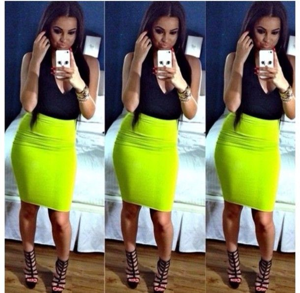 25 best ideas about neon green on