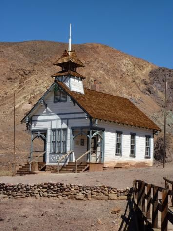Calico, CA - Ghost Town Old School House. Calico Ghost Town was pretty fun. Especially at the KOA campground nearby